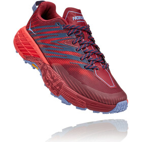 Hoka One One Speedgoat 4 Chaussures Femme, cordovan/high risk red